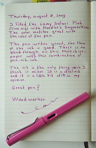 Written review Lamy Safari Pink