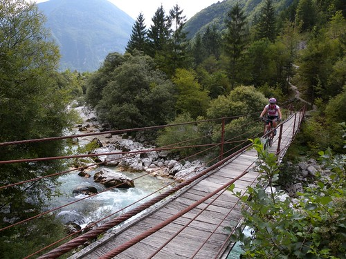 Another footbridge crossing over the Soca river