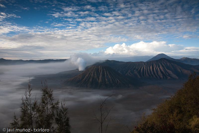 En el descenso al volcan