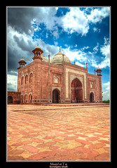 The Mosque at Taj Mahal (Suvrangshu) Tags: travel mahal tajmahal agra mosque mausoleum canon5d hdr masjid shahjahan mumtaz mughalarchitecture mumtazmahal mumtazmaha suvghosh suvrangshughoshphotography