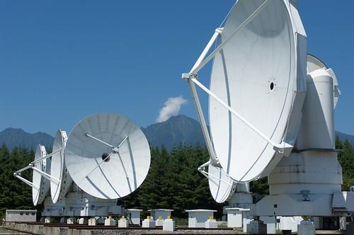 電波望遠鏡と赤岳