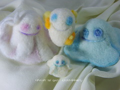 Envelope & Glimmer /   (borometz) Tags: art wool monster toy spirit ghost craft felt plush fantasy envelope needlefelting legend glimmer mythology myth handcraft   needlefelted           atelierborometz