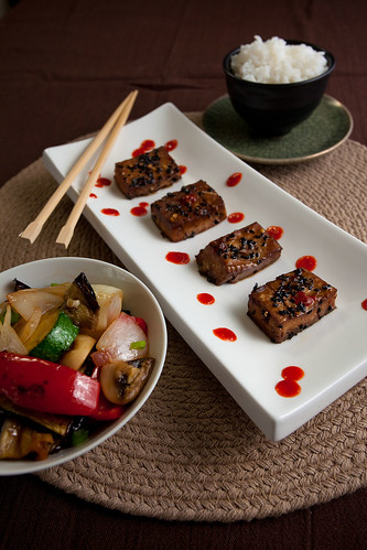 Marinated Tofu and Stir Fry