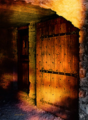 -- doors of history -- (xandram) Tags: photoshop doors tunnel textures soe fortticonderoga colorphotoaward magicunicornverybest