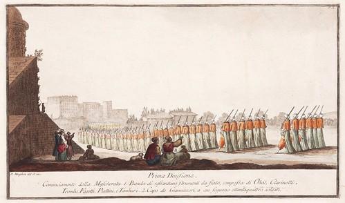 004- Celebre mascherata fatta nella splendidissima citta di Napoli in campagna felice nel carnovale dellanno 1778