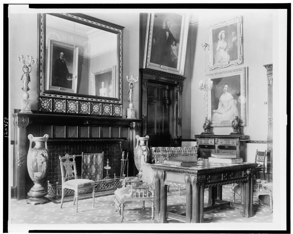 Red Room as decorated by Louis Comfort Tiffany: from Library of Congress