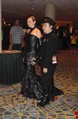 Costuming at Dragon Con 2009 (Matt & Kristy) Tags: starwars costume cosplay empire 501stlegion attackoftheclones rebellegion padmeamidala imperialofficer originaltrilogy corsetgown dragoncon2009