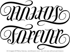 """Always"" & ""Forever"" Ambigram"
