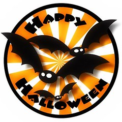 Happy Halloween round badge