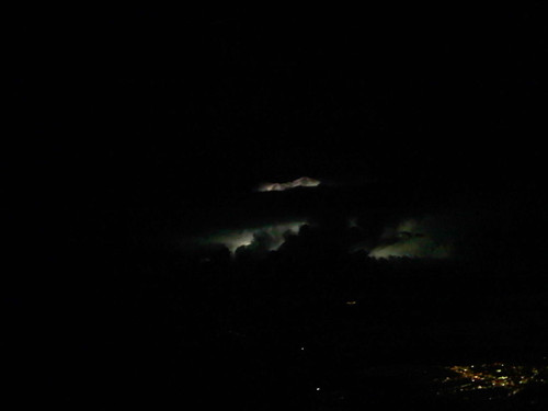 Our own personal lightning show outside my airplane window.