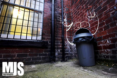 Garbage Monster (M J Small Photography) Tags: light trash canon painting garbage long exposure drawing leeds sigma bin rubbish 1020mm 450d