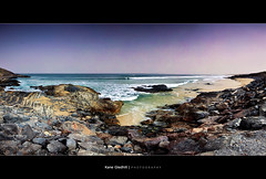 Gallows Beach - Coffs Harbour, NSW, Australia. ([ Kane ]) Tags: sea sky beach water sand rocks surf waves surfer surfing panoramic nsw surfers kane duststorm gallows coffsharbour gledhill sigma1020 50d thegallows kanegledhill bananacoast wwwhumanhabitscomau kanegledhillphotography