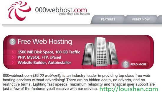 free web hosting web sites