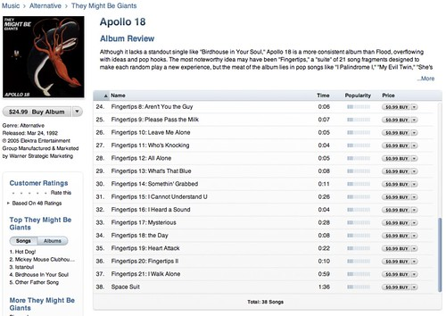 Apollo 18 Has Problems on iTunes