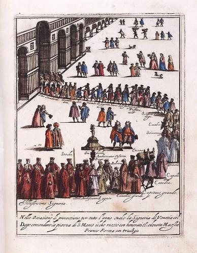 006-Procesion anual en la Plaza de San Marcos de Venecia-Habiti d'hvomeni et donne venetiane 1609