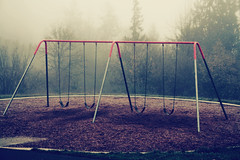 memories.. (BreeWalk) Tags: park morning fog oregon early swingset
