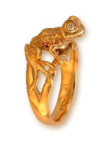 Gold Frog Ring