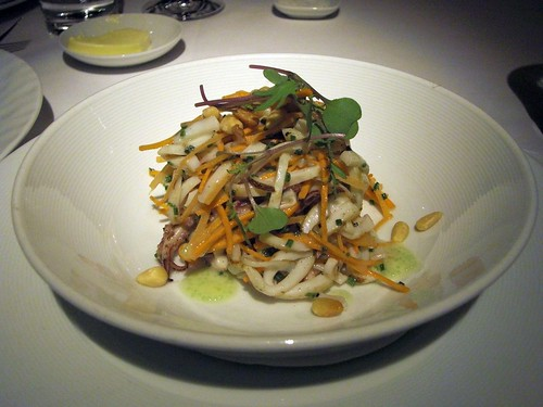 Calamari and Carrot salad