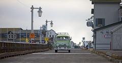 Pier, Santa Barbara CA (nathalie booth) Tags: ocean california usa santabarbara pier afterthestorm van vwbus