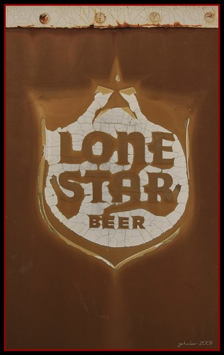 Lone Star Beer - on Tour Bus - Broken Spoke @ Austin, Texas