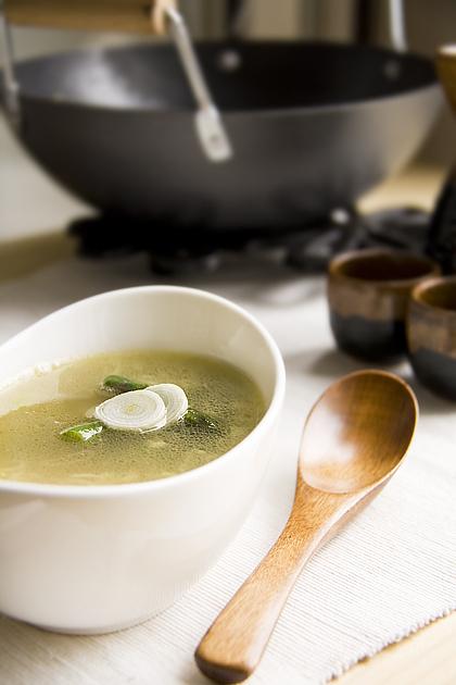 Zuppa cinese con Granchio e Asparagi