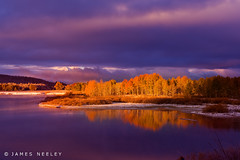 Autumn Morning at Oxbow (James Neeley) Tags: nature landscape bravo wyoming tetons hdr grandtetonnationalpark gtnp oxbowbend 5xp jamesneeley flickr13
