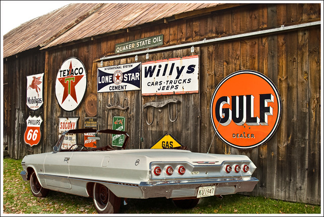 white signs chevrolet antique rear convertible 63 chevy impala 1963