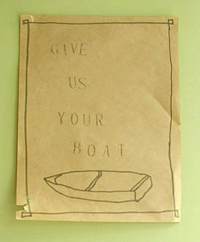 GIVE US YOUR BOAT