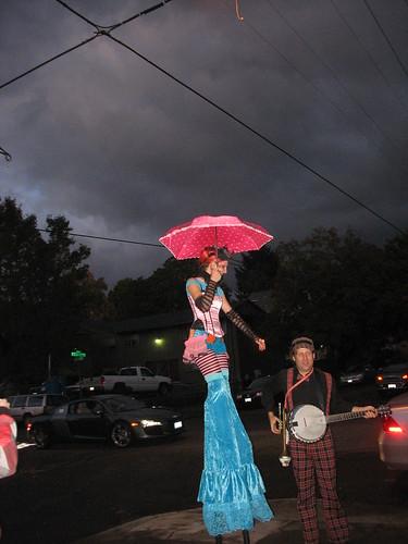 Lady on Stilts 2