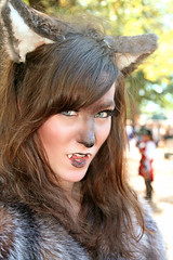 Fanged Beauty (wyojones) Tags: woman girl beautiful beauty face look animal festival mouth eyes skins wolf texas expression lips trf bite faire renfaire brunette renaissancefestival fangs facepaint renaissance renaissancefaire renfest element rennie shewolf texasrenfest texasrenaissancefestival plantersville animalskins wolfwoman toddmission toddmissiontexas wyojones elementofair