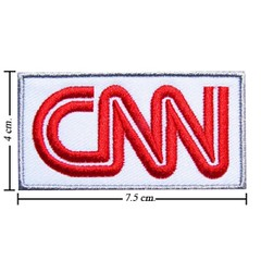 AD0007 - AD CNN Cable News Network Logo Iron Patch (ShinyshineStore) Tags: iron patches embroidered advertise