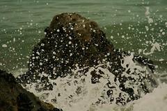 Splash (~DesertShooter~) Tags: ocean california sea beach wet water canon rebel droplets rocks salt spray foam splash ventura xti