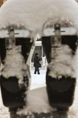Meters of Snow 2 (theqspeaks) Tags: street city winter 6 white snow storm man canon walking eos rebel washingtondc dc washington cool nw snowy parking saturday u meter february blizzard ustreet snowpocalypse snowmageddon welovedc snomg t1i canoneosrebelt1i