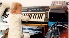 Kid version of Amber Case (caseorganic) Tags: baby nerd childhood video spectrum midi technicolor synthesizer oscilloscope analyzer homestudio atari130xe isaotomita recordimh casiophasemodulation