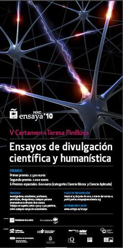 """Ensaya'10: V Certamen """"Teresa Pinillos"""" de ensayos de divulgación científica y humanística"""