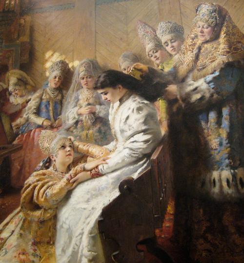Russian Bride's Attire 1889 Konstantin Makovsky