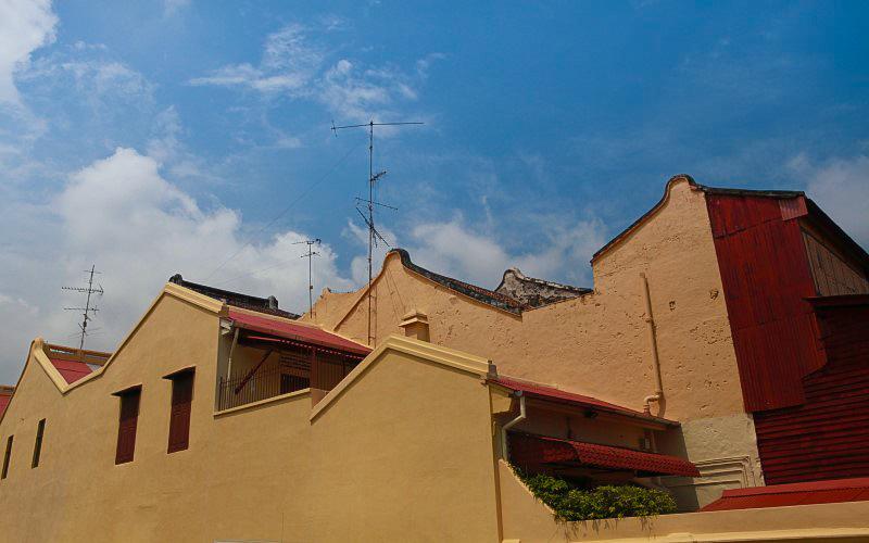 馬六甲民居的屋頂