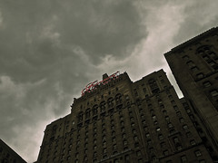 Foreboding (trivuong76) Tags: toronto dark hotel cloudy ominous foreboding olympus looming 1442mm epl1