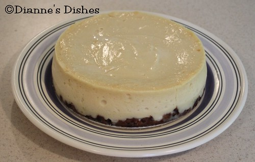 Chocolate Covered Vanilla Cheesecake With A Chocolate Chip Cookie Crust: Baked