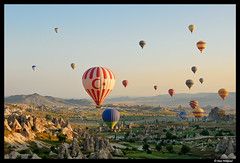 Balloons over Cappadocia (Dan Wiklund) Tags: morning stone turkey balloons landscape rocks fairy d200 hotairballoons chimneys cappadocia anatolia kapadokya 2011 lpadventure lp2011winners