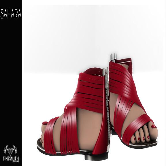 Sahara Sandals Red