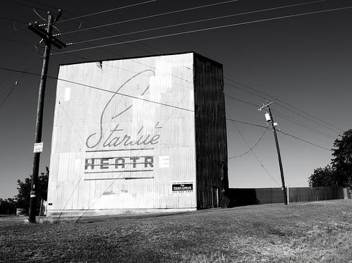 Former Starlite Drive-in Theatre, Brenham, Texas 0618111816BW