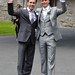 Brian Ormond, Mickey Joe Harte at the The Wedding of Pippa O'Connor to TV Presenter Brian Ormond held at St. Patrick's Church in Wicklow