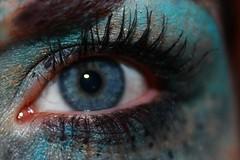 iColor (Nathalie_Désirée) Tags: eye blue makeup cosmetic eyeshadow cilia eyelash green gold color face mascara eyebrow carnival february dot season macro closeup hi hey heye iris avatar canoneos600d 1855 glitter turquoise cyan peacock