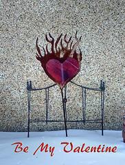 Be My Valentine (Solojoe) Tags: bemyvalentine valentine snow cold heart flaming flamingheart flame art artsyfartsy artwork heat truelove brokenheart cracked
