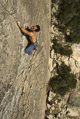 Rock Climber - Aidin Sabet On Zephyr 5.10c/d At Indian Springs #2 (Amicus Telemarkorum) Tags: california cliff sport altitude sierra climbing granite leader sierras climber heights rockclimbing leading climbers indiansprings sportclimbing advancedyetiphotography jeffreyrueppelphotography aidensabet
