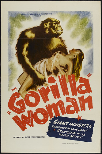 GORILLA WOMAN one sheet