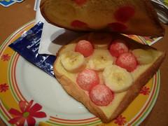 Toast banane - fraise tagada (Helran) Tags: banane tost fraisetagada