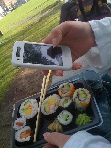 sushi picknick met @jojanneke by you.
