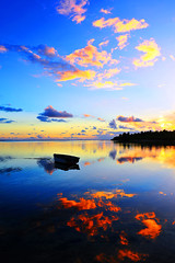 My Blue Sunset (matey_88 ( OFF )) Tags: blue sunset sea sky reflection clouds island majid maldives matey mohamed addu cubism feydhoo uniquemaldives savaheli
